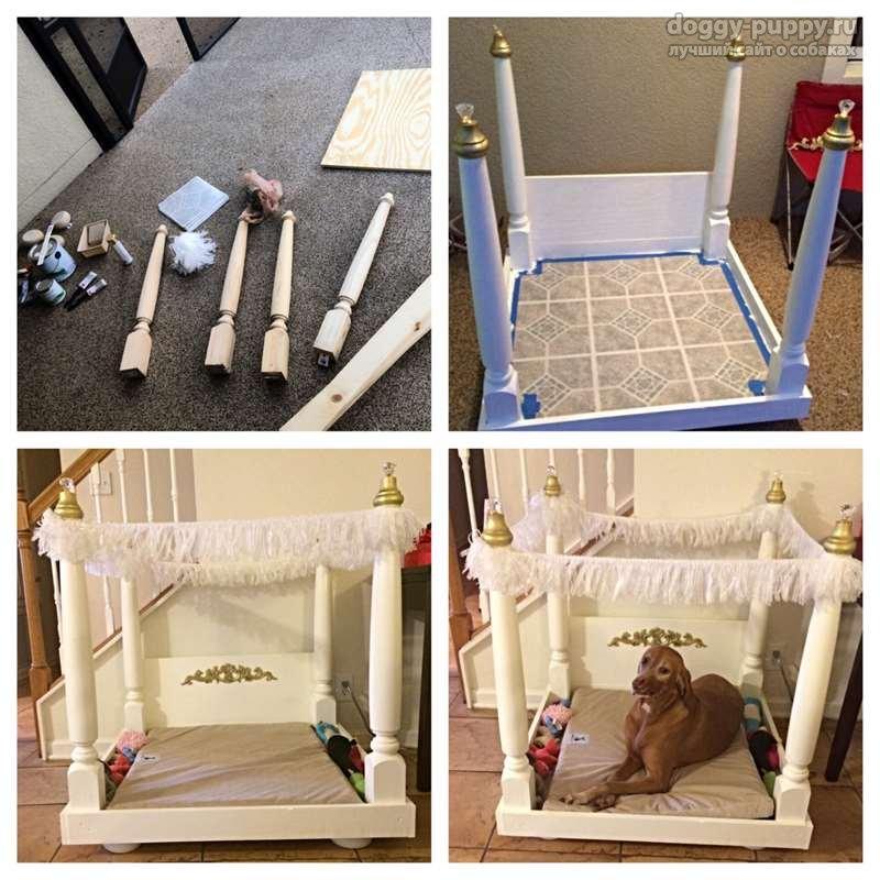Как смастерить лежак для собаки