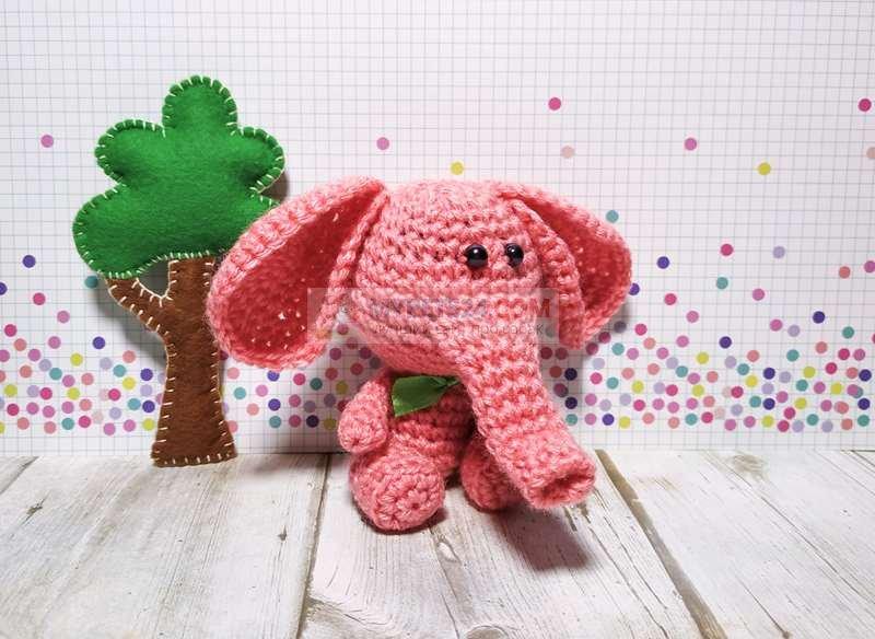 амигуруми: слоник своими руками