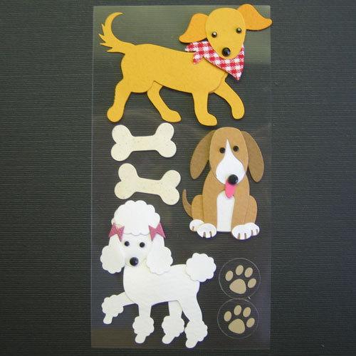 аппликация стильная собака из бумаги