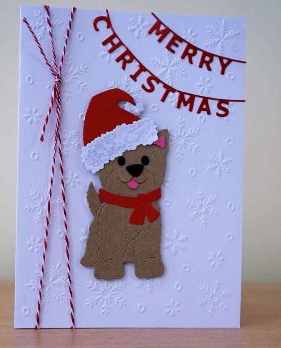 самоделка собака открытка новогодняя