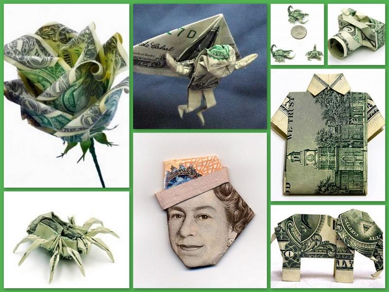 фигурки из денег фото